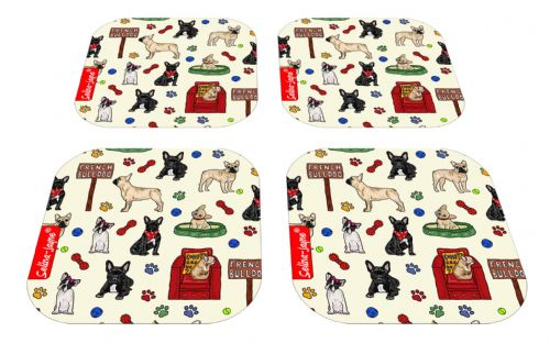 Selina-Jayne French Bulldog Limited Edition Designer Coaster Gift Set